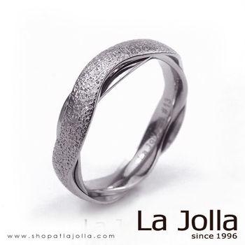 La Jolla 鑽石星辰 波浪款純鈦戒指(女款)