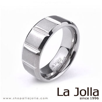 La Jolla 玩酷方塊 純鈦戒指(男款)