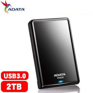 ADATA威剛 HV620 2.5吋 2TB 2T USB3.0 行動硬碟(黑)