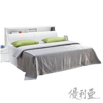 【優利亞-美夢純白】6尺床頭箱