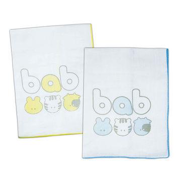 【培寶】紗布澡巾-2入 (藍黃)