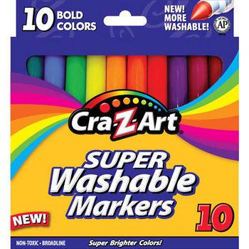 【美國Cra-Z-Art】10色超級可水洗彩色筆(亮色款)