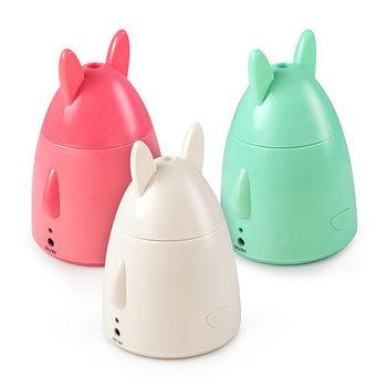 蘋果兔 USB迷你加濕器-藍綠/桃紅/白色