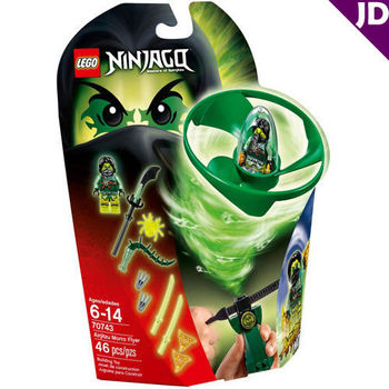 【LEGO 樂高積木】Ninjago 忍者系列 - 飛天旋風忍者之旋風鬥-摩洛 LT-70743