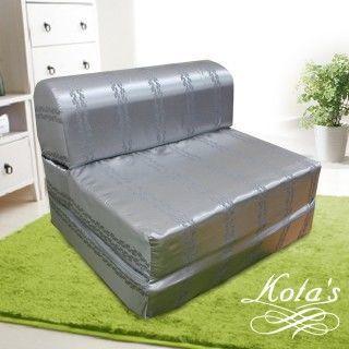 【KOTAS】尊爵緹花彈簧沙發床 椅(單人三尺)