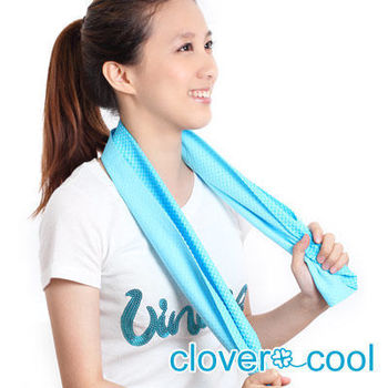 Clover瞬間涼感多用途冰涼巾(運動巾)-冰晶藍