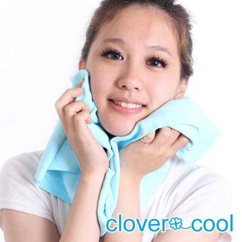 Clover瞬間涼感多用途冰涼巾(大毛巾)-冰晶藍
