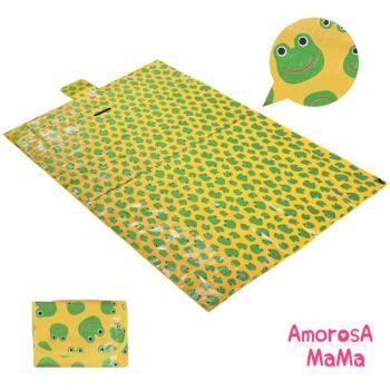 【Amorosa Mama】折疊手提式戶外野餐墊/遊戲墊/地墊 (青蛙)