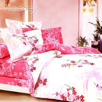 【KOSNEY】馨語妙戀 頂級特大精梳棉兩用被床包組