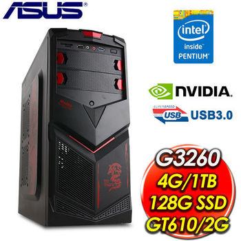華碩B85平台【極速颶風Pro6】Intel G3260雙核/128G SSD+1TB HDD/2G獨顯/4G記憶體 DVD燒錄電腦