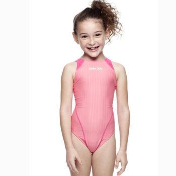 【SAIN SOU】女童競賽型泳裝 附泳帽