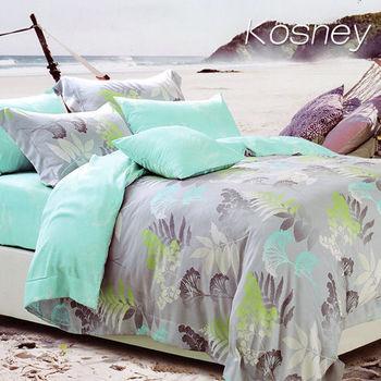 【KOSNEY】戀愛溫度  雙人100%天絲TENCE六件式兩用被床罩組