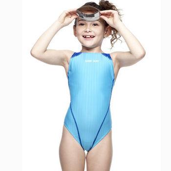 SAIN SOU-女童競賽型泳裝 附泳帽