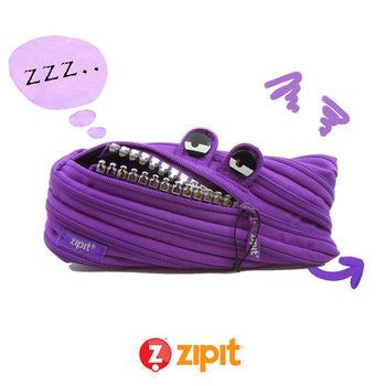 Zipit 怪獸拉鍊包(中)鋼牙系列-紫
