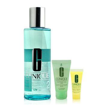 CLINIQUE 倩碧 三步驟保濕潔膚水400ml(加贈 三步驟溫和潤膚組)