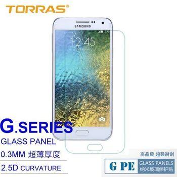 【TORRAS】Samsung Galaxy E5 防爆鋼化玻璃貼 G PE 系列 9H硬度 0.3MM 2.5D導角 AGC玻璃 送面條線