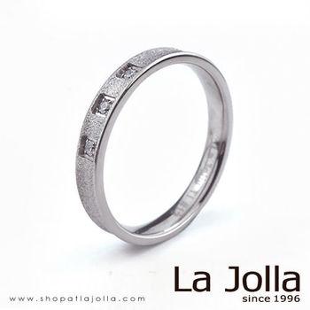 La Jolla 鑽石星辰 凹型款純鈦戒指(女款)
