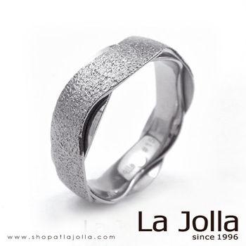 La Jolla 鑽石星辰 波浪款純鈦戒指(男款)