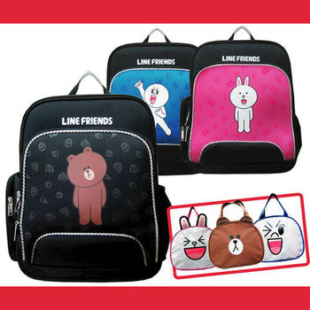 【LINE FRIENDS】EVA護脊書背包+造型便當袋