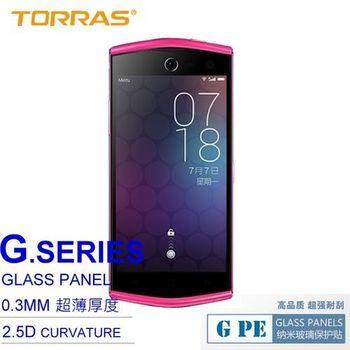 【TORRAS】MEITU 美圖手機2 防爆鋼化玻璃貼 G PE 系列 9H硬度 0.3MM 2.5D導角 AGC玻璃 送面條線