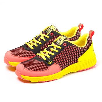 【DADA】城市美學螢光輕量慢跑鞋-女(糖果橘-1151582007)