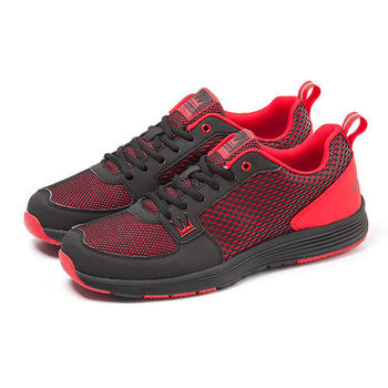 【DADA】城市美學螢光輕量慢跑鞋-女(熱情黑-1151582005)