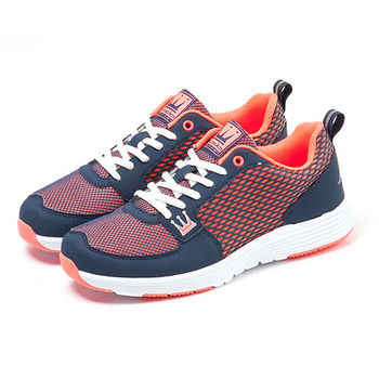 【DADA】城市美學螢光輕量慢跑鞋-女(好感藍-1151582004)