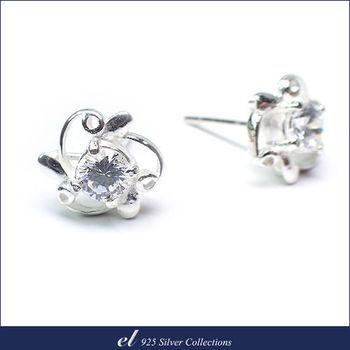 el 925銀飾 - 方晶鋯石耳環 Gyrate
