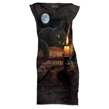 摩達客(預購)The Mountain 魔法貓時刻 休閒短洋裝連身裙迷你短裙