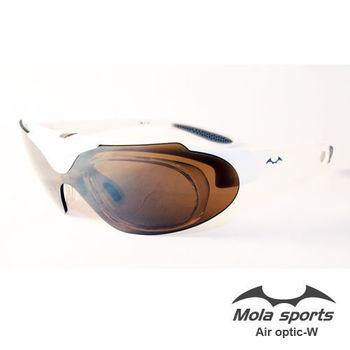 MOLA SPORTS 近視/老花眼鏡可戴-摩拉上掀式運動太陽眼鏡Air Optic-w