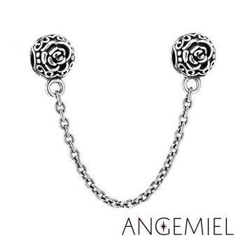 Angemiel安婕米 925純銀珠飾 玫瑰戀曲 夾扣安全鍊