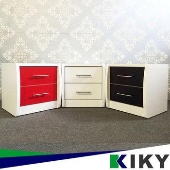 KIKY 愛莉時尚床頭櫃(黑/白/紅)