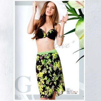 【梅林品牌】時尚三件式鋼圈比基尼泳裝NO.M4423(現貨+預購)