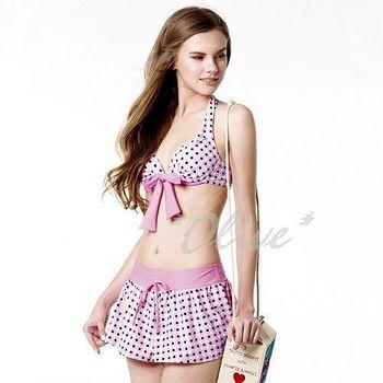 【梅林品牌】時尚三件式鋼圈比基尼泳裝NO.M4421(現貨+預購)
