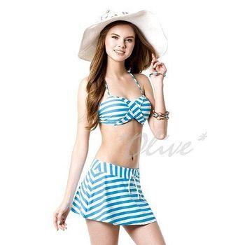 【梅林品牌】時尚三件式比基尼泳裝NO.M4420(現貨+預購)