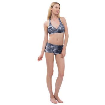 【sunseeker 泳裝】懷舊牛仔風女泳裝 (83658) S-XL 比基尼藍
