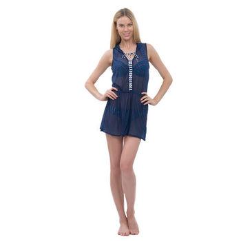 【sunseeker 泳裝】海軍拼接風系列女外罩衫-不附內裡 (84685) S-L