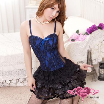 天使霓裳 甜蜜序曲 性感塑身公主腰馬甲(黑藍S~XL)-JJ2220