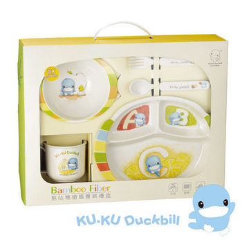《KU.KU酷咕鴨》酷咕鴨豪植纖餐具禮盒(3030)