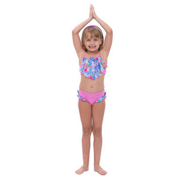 【sunseeker 泳裝】(53509)澳洲名品女童粉色點點系列泳裝