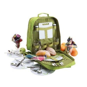 YoDo綠意盎然四人份野餐後背包(含餐具)