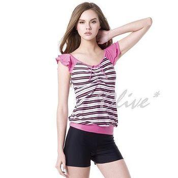 【梅林品牌】時尚二件式短袖泳裝NO.M4472(現貨+預購)