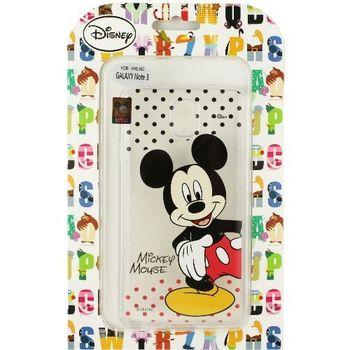 【Disney】Samsung Galaxy Note 3 (N9000) 彩繪透明保護軟套-米奇