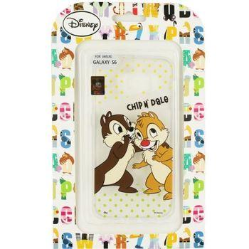 【Disney】Samsung Galaxy S6 彩繪透明保護軟套-奇奇/蒂蒂