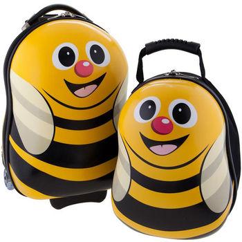 英國cuties and pals蛋型輕硬殼旅行箱+背包(蜜蜂)