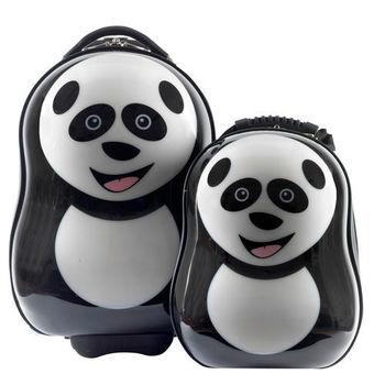 英國cuties and pals蛋型輕硬殼旅行箱+背包(貓熊)