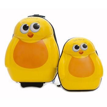 英國cuties and pals蛋型輕硬殼旅行箱+背包(小雞)