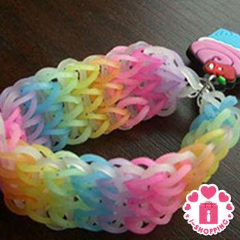 【愛逛街】15格DIY手工編織彩色橡皮筋1盒