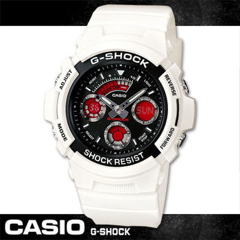 【CASIO 卡西歐 G-SHOCK 系列】酷炫雙顯型男潮錶款(AW-591SC)