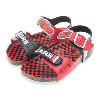《布布童鞋》Cars閃電麥坤腳背可調節式紅色歐風兒童氣墊涼鞋(16公分~21公分)MHF816A